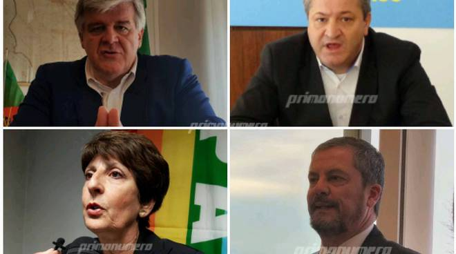 Collage candidati sindaco Termoli Sbrocca Stumpo Roberti Di Michele