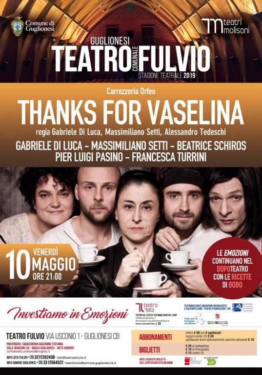 Thanks for vaselina al Fulvio