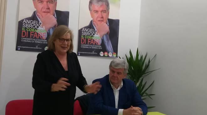 Eurodeputata Pd Gentile e Angelo Sbrocca