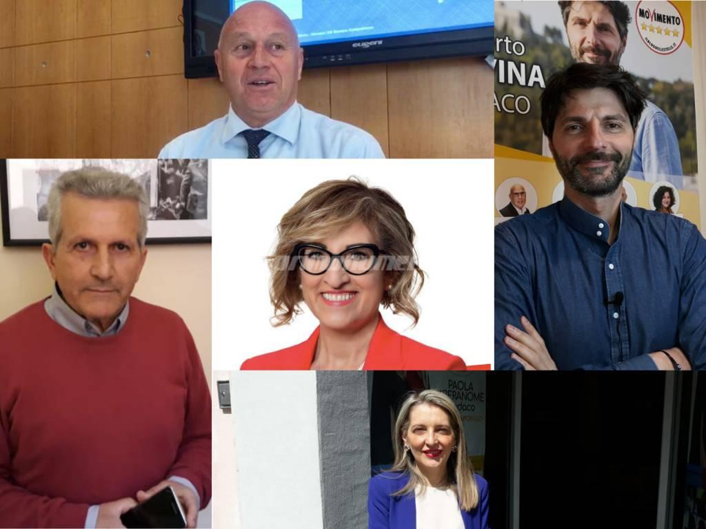 collage sindaci Campobasso elezioni 2019