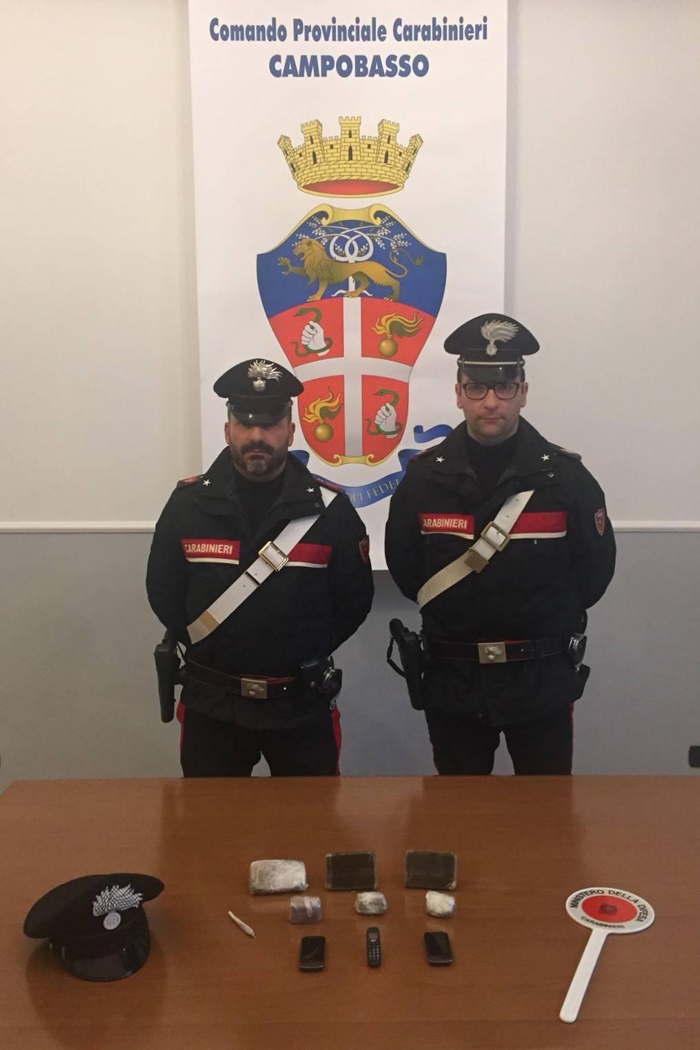 Carabinieri Campobasso droga carcere