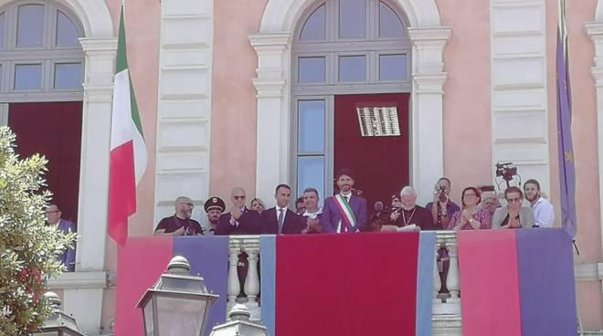 balcone palazzo San Giorgio Comune Campobasso Corpus domini 2019