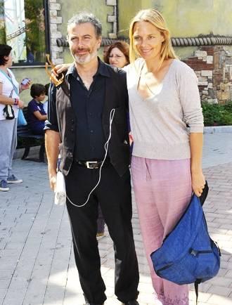 Paolo Sassanelli e moglie