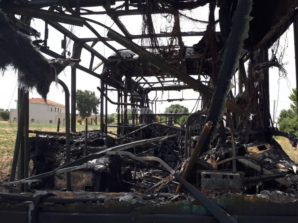 Autobus Gtm in fiamme