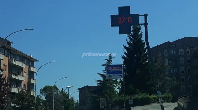 Campobasso viale Manzoni caldo
