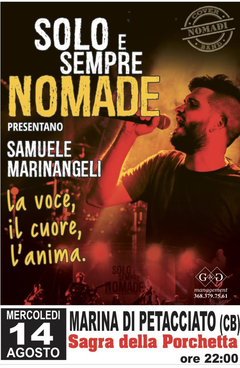 cover nomadi a petacciato