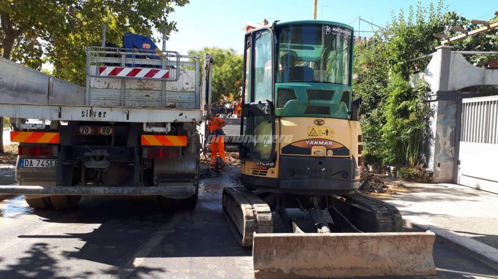 lavori rottura via Firenze