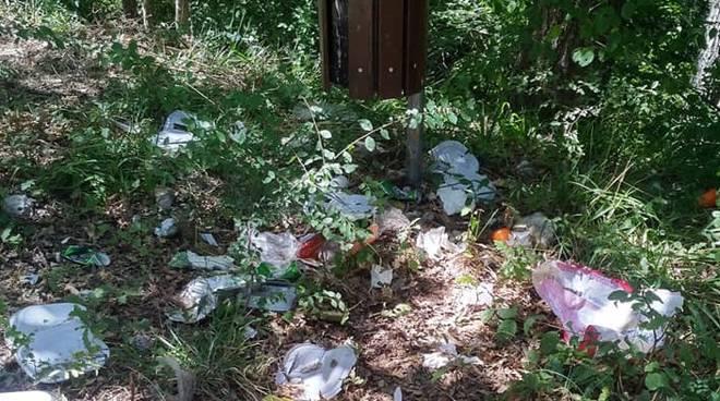Parco Foce vandali