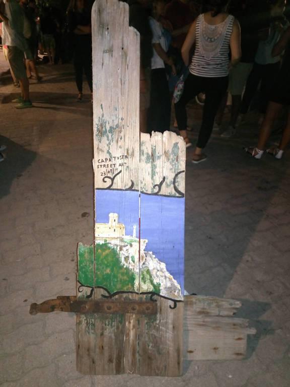 capa tosa street art alle Tremiti
