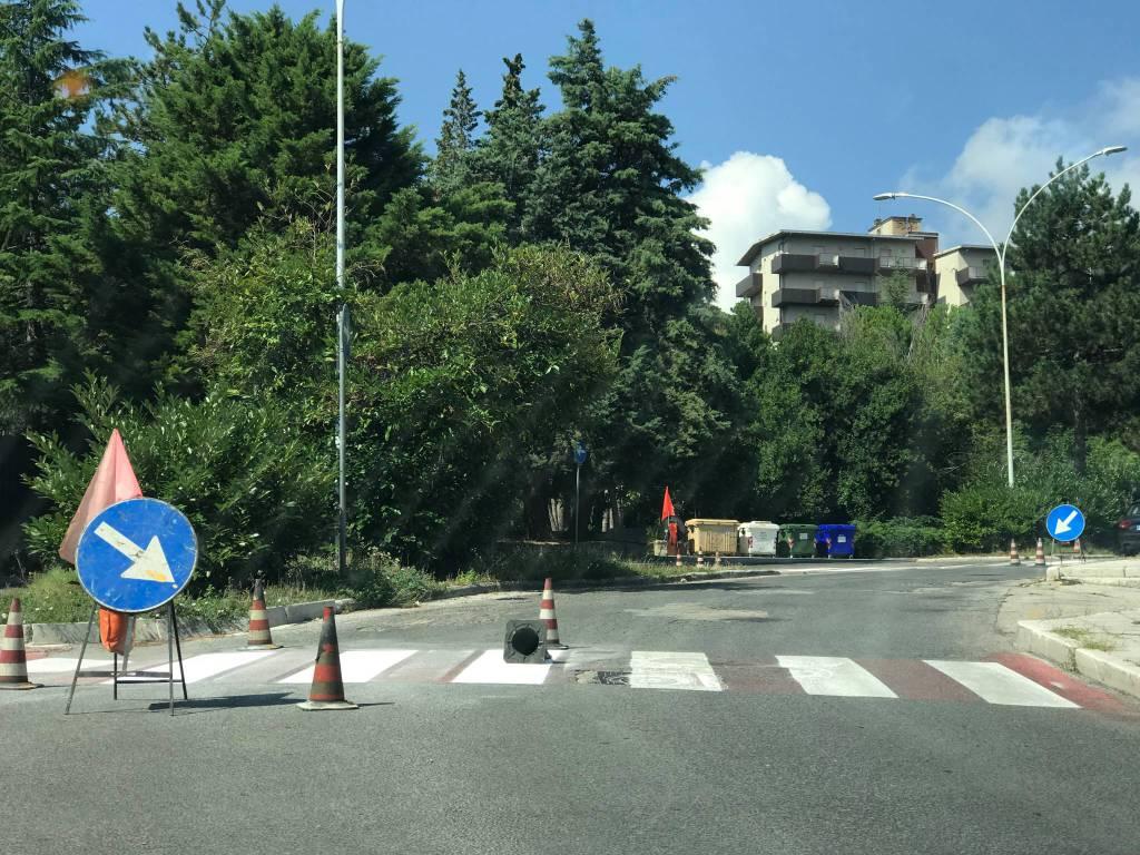 strisce pedonali davanti alle scuole Campobasso