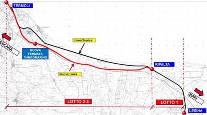 mappa raddoppio ferroviario