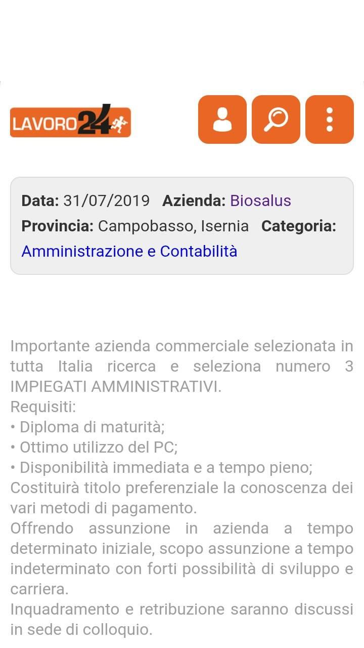 biosalus annuncio