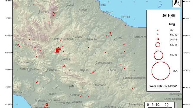 Scossa di magnitudo 3.2 nella notte in provincia di Cosenza