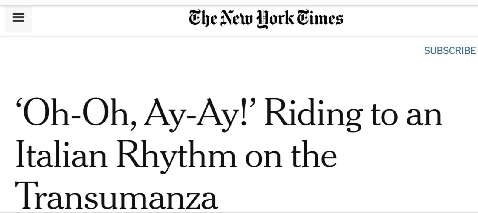 transumanza new york times