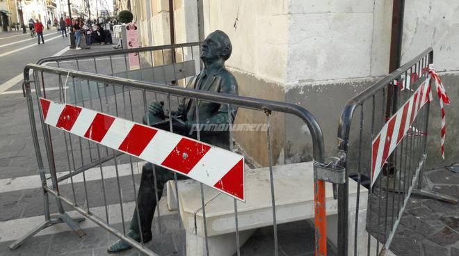statua cappella danneggiato