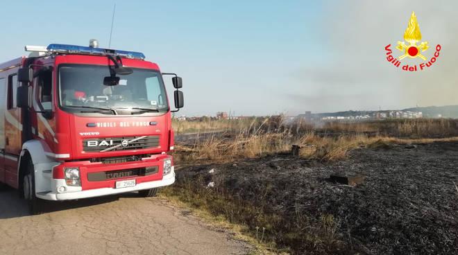 Vigili del fuoco terreno bruciato
