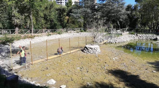 Divisorio laghetto parco