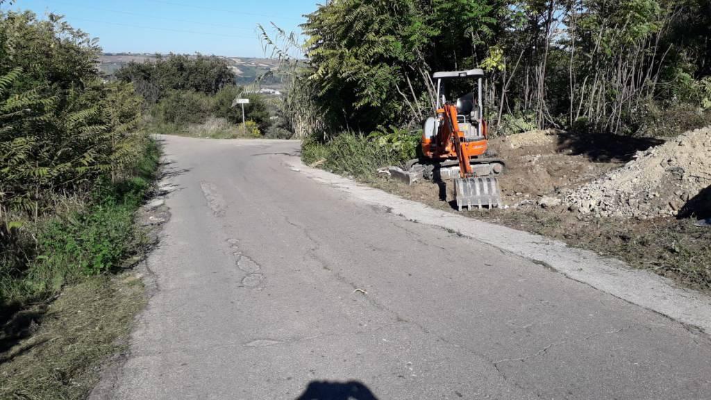 lavori scarichi fognari Portocannone