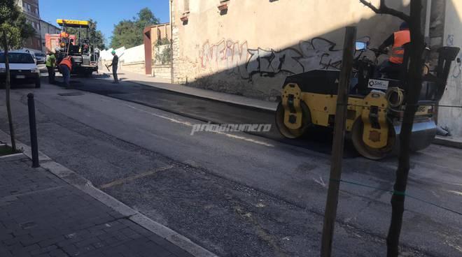 Campobasso lavori asfalto