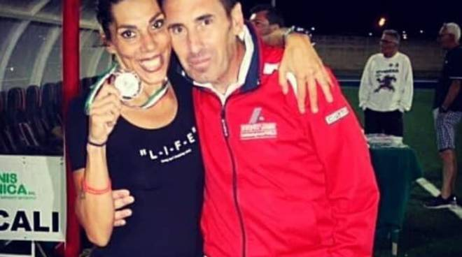Francesca De Sanctis con l'allenatore Cuoco