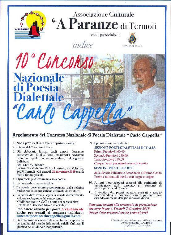 concorso poesia carlo cappella