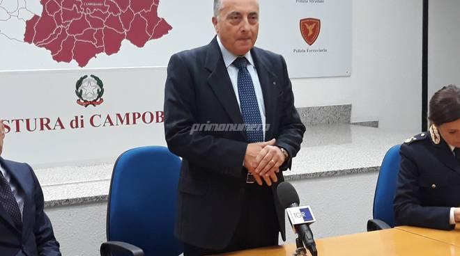 Questore Polizia Campobasso Francini