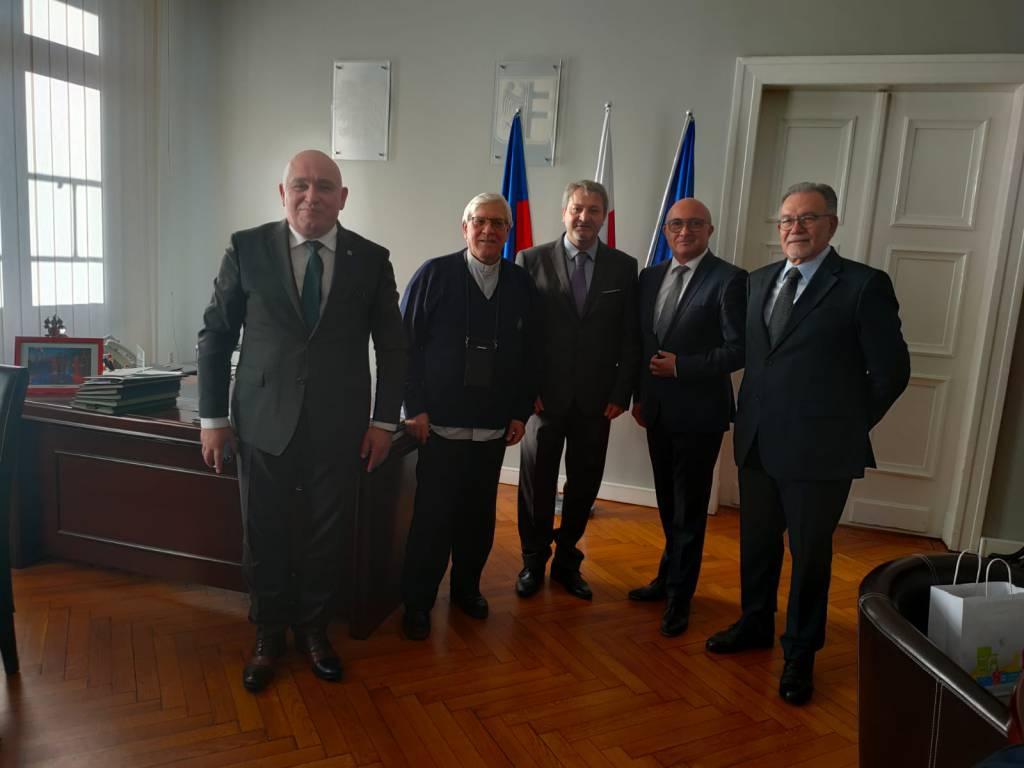 sindaco roberti e delegazione in polonia