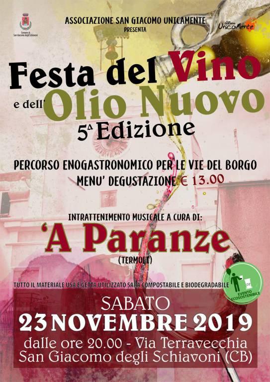 festa del vino olio san giacomo