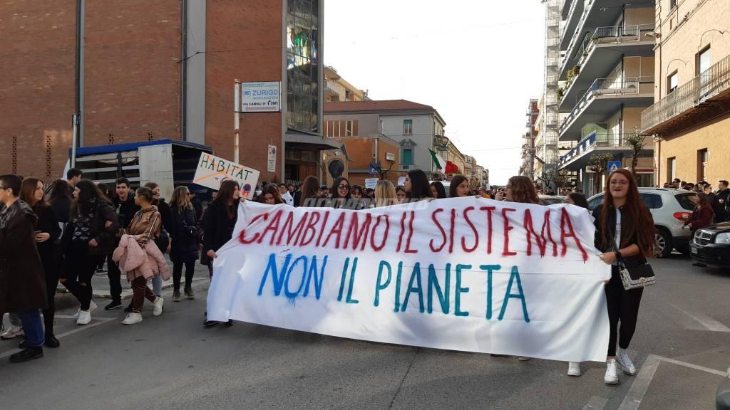 Manifestazione sciopero clima corteo