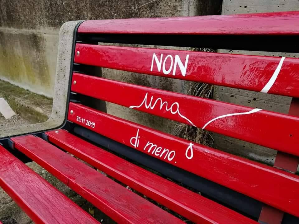 panchina rossa mafalda