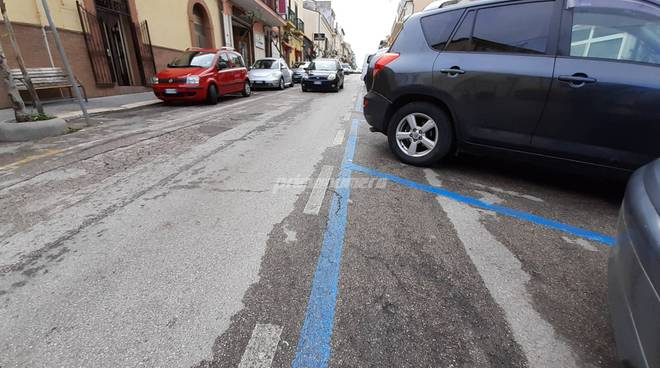 Strisce blu secondo Corso