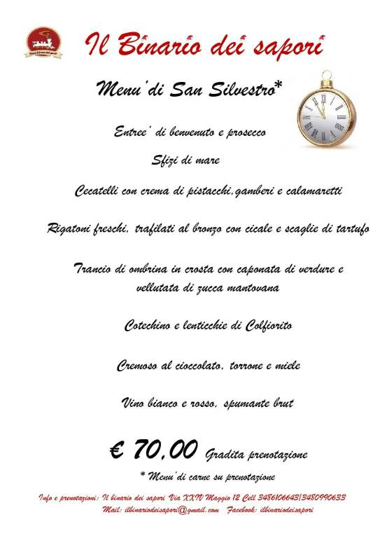 menu binario san silvestro