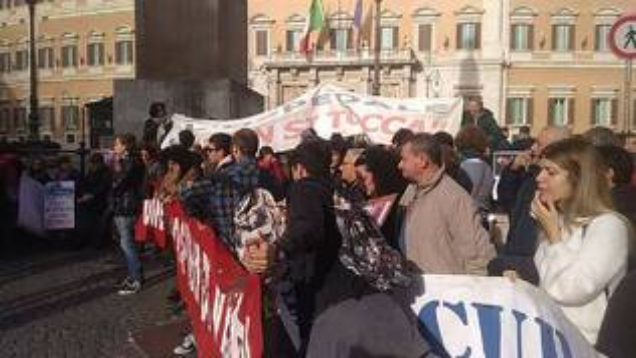Protesta sanità a Roma