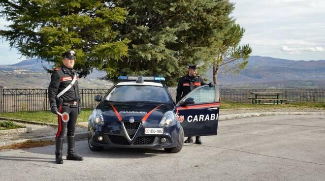 carabinieri Bojano e arnesi da scasso
