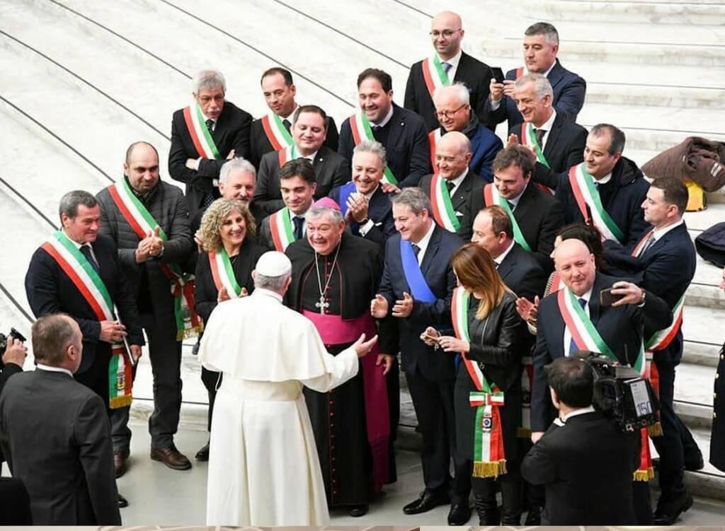 sindaci basso molise dal papa