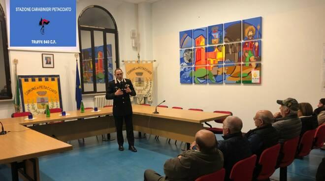 Incontro carabinieri anti truffe Petacciato