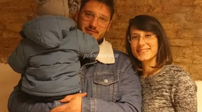 Sonia de Angelis e famiglia