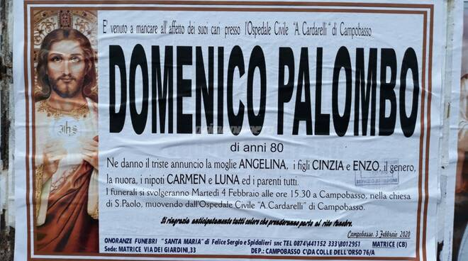 Manifesto Domenico Palombo