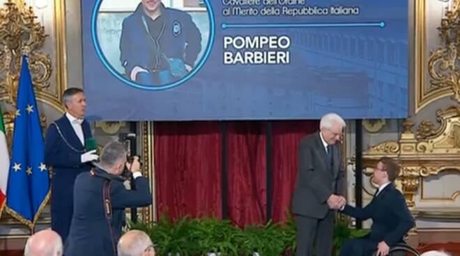Pompeo Barbieri cavaliere Repubblica