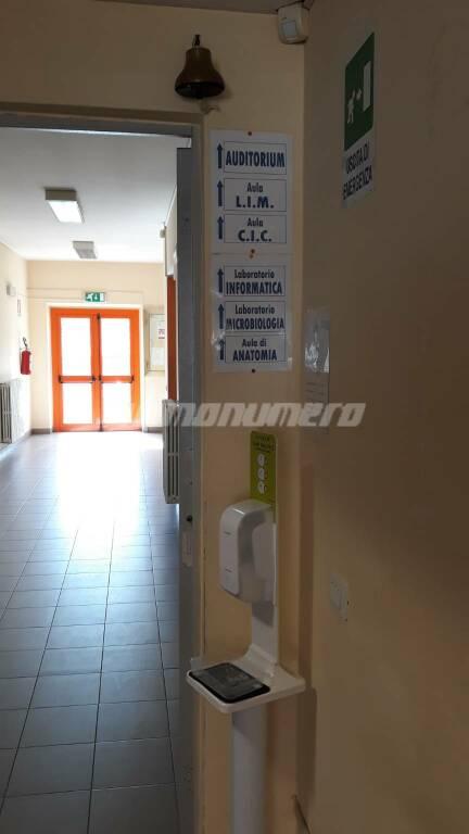 Istituto biologico Pertini Campobasso dispenser coronavirus