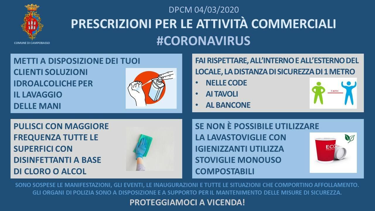 coronavirus commercio Campobasso