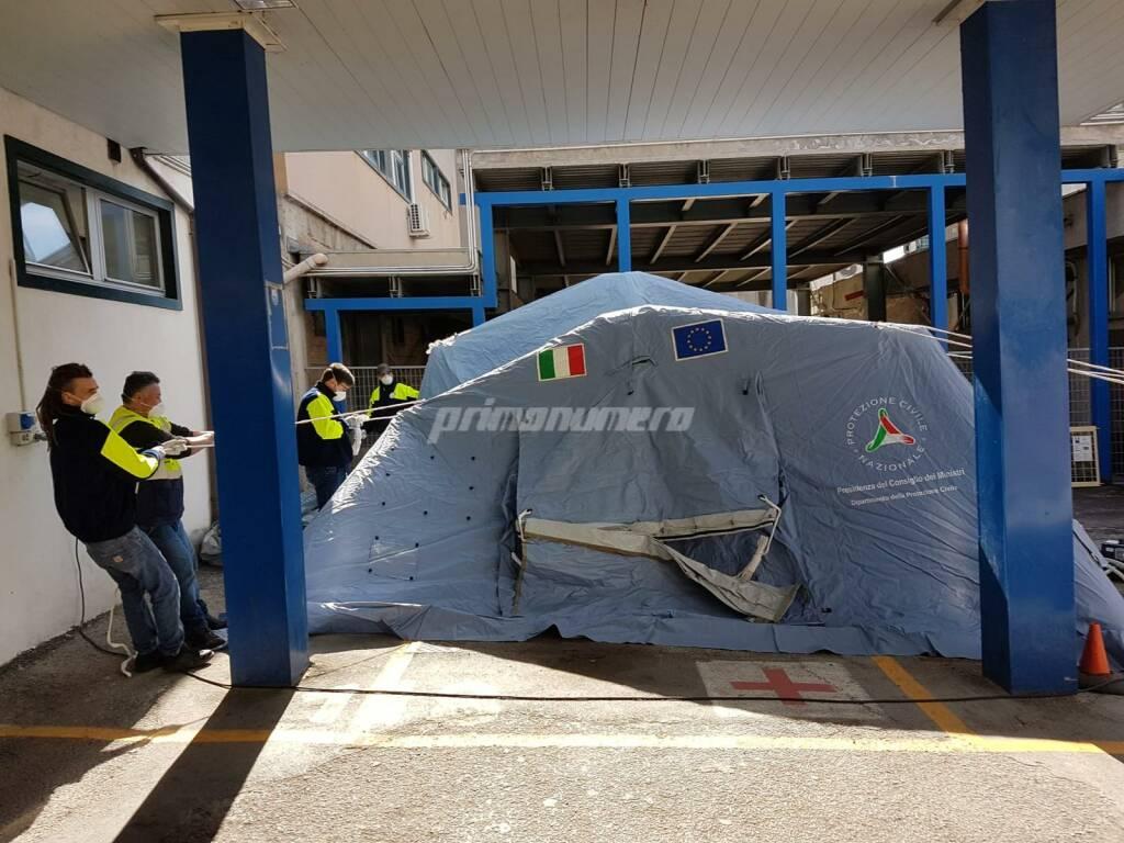 Tenda pre triage Isernia