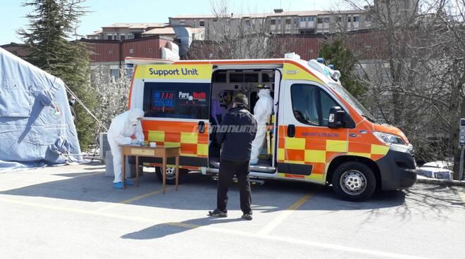 tamponi ambulanza Cardarelli ospedale Campobasso