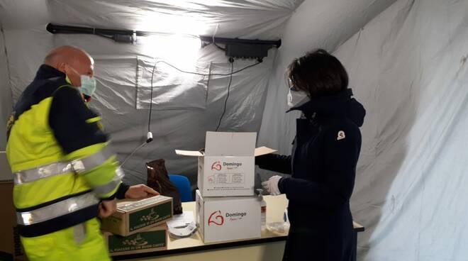 donazione domingo caffè tenda pre triage termoli