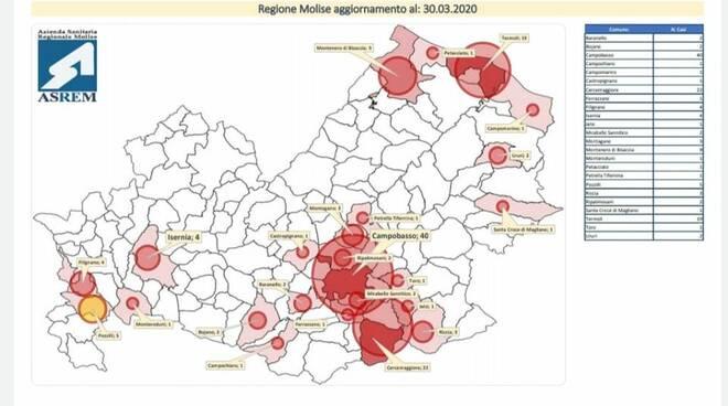 mappa contagio 30 marzo