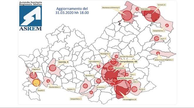 mappa contagi 31 marzo