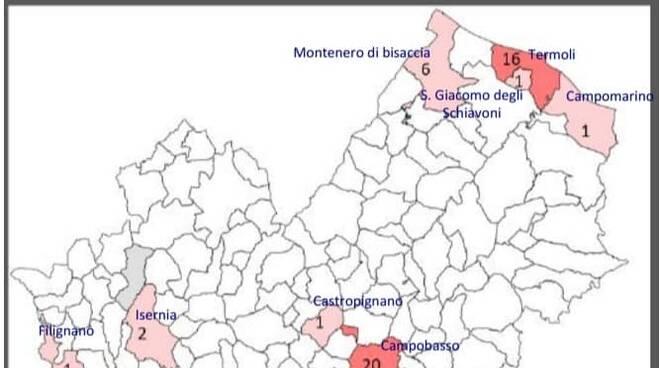 mappa contagi 23 marzo