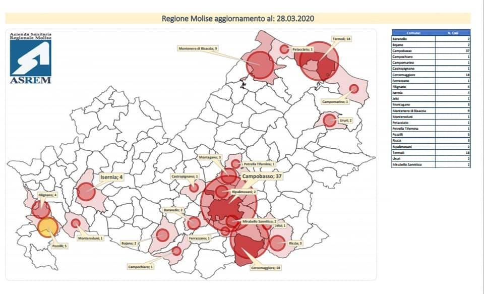 mappa coronavirus 28 marzo