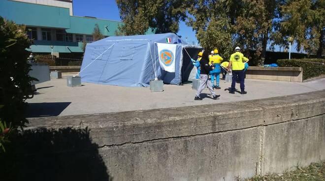 tenda pre triage san timoteo