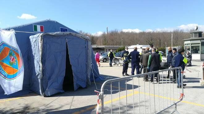 Tenda triage Cardarelli protezione civile